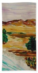 Two Cedars By The Sea Hand Towel