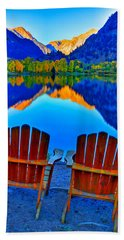 Two Chairs In Paradise Hand Towel