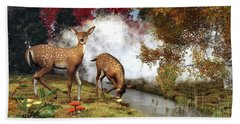 Two Deers Hand Towel