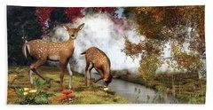Two Deers Bath Towel