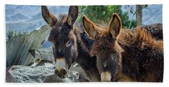 Two Donkeys Bath Towel by Patricia Hofmeester
