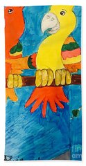 Two Double Yelloe Headed Birds Hand Towel