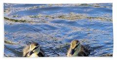 Two Ducklings Hand Towel