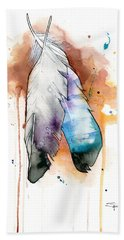 Two Feathers Bath Towel