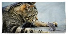 Two Friends Hand Towel by Mike Ste Marie