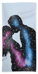 Two Galaxies In One Universe Bath Towel