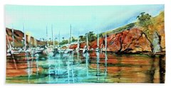 Two Harbors Catalina Morning Impressions Bath Towel