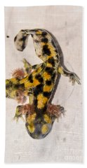 Two-headed Near Eastern Fire Salamande Hand Towel by Shay Levy