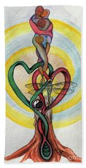 Two Hearts Hand Towel