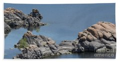 Hand Towel featuring the photograph Two Lone Trees At Granite Dells by Anne Rodkin