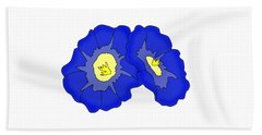 Two Morning Glories Hand Towel