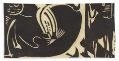 Two Mythical Animals Hand Towel