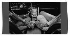 Two People In Love By Michael Grobin Bath Towel