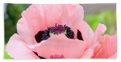 Two Pink Poppies Bath Towel