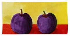 Two Plums Bath Towel