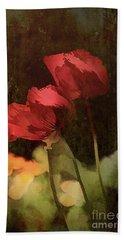 Two Poppies Bath Towel by Elaine Teague