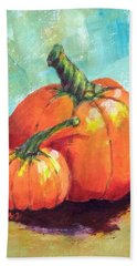 Two Pumpkins  Bath Towel