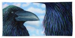 Two Ravens Bath Towel
