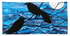Two Ravens Hand Towel