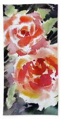 Two Red Beauties Hand Towel