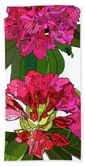 Two Rhododendrons Hand Towel