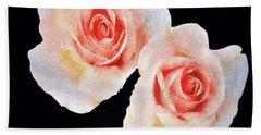Two Roses Bath Towel