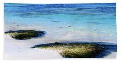 Two Seaweed Mounds On Punta Cana Resort Beach Hand Towel by Heather Kirk