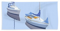 Two Sloops Bath Towel