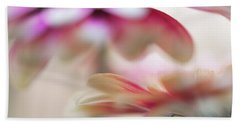 Hand Towel featuring the photograph Two Souls 1. Macro Gerbera by Jenny Rainbow