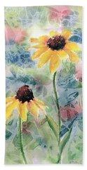 Two Sunflowers Bath Towel