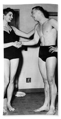 Two Swimming Stars Bath Towel