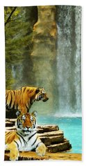 Two Tigers Hand Towel