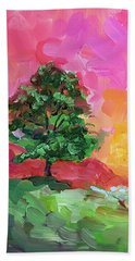 Two Trees Bath Towel by Janet Garcia