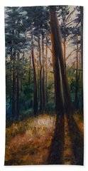 Two Trees Hand Towel by Rick Nederlof