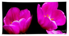 Two Tulips Hand Towel by Tim Townsend