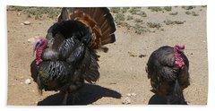 Two Turkeys Bath Towel by Joseph Frank Baraba