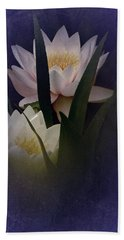 Two Water Lilies Hand Towel by Richard Cummings