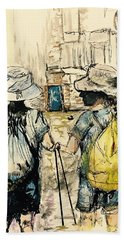 Texans On The Camino De Santiago Bath Towel