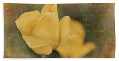 Two Yellow Tulips Bath Towel