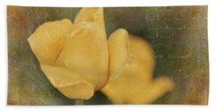 Two Yellow Tulips Bath Towel