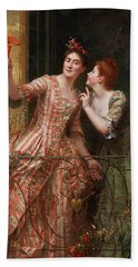 Two Young Women With A Balcony Bath Towel