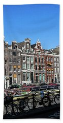 Typical Houses In Amsterdam Bath Towel