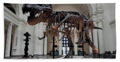 Hand Towel featuring the digital art Tyrannosaurus Rex Sue - Chicago by Daniel Hagerman