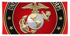 U. S. Marine Corps - U S M C Emblem Special Edition Hand Towel
