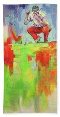 Ueberpruefe Die Luege Des Gruens   Checking The Lie Of The Green Bath Towel by Koro Arandia
