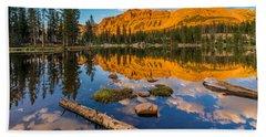 Uinta Mountains Sunset - Hayden Peak - Butterfly Lake - Utah Hand Towel
