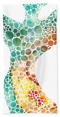 Ultra Modern Art - Colorforms 2 - Sharon Cummings Bath Towel
