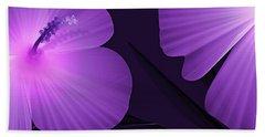 Ultraviolet Hibiscus Tropical Nature Print  Bath Towel