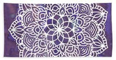 Ultraviolet Mandala Bath Towel