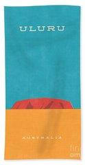 Uluru Ayers Rock Retro Tourism Hand Towel